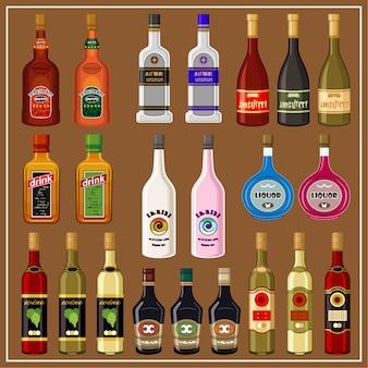 Set alcoholic beverages.