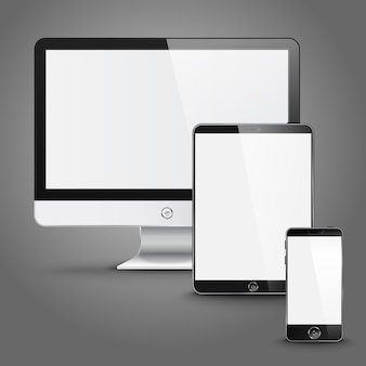 Set of all size screen devices for site preview
