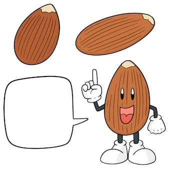 Set of almond skeaking