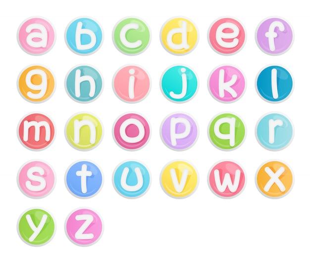 Set of alphabet icons.