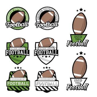 Set of american football championship, tournament  design elements.