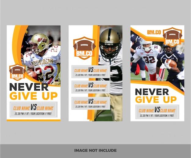 Set of american football web banner
