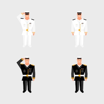 Set american military officer