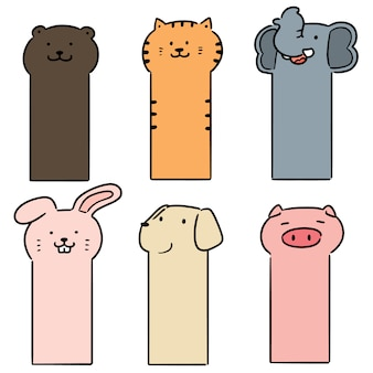 Set of animal bookmark