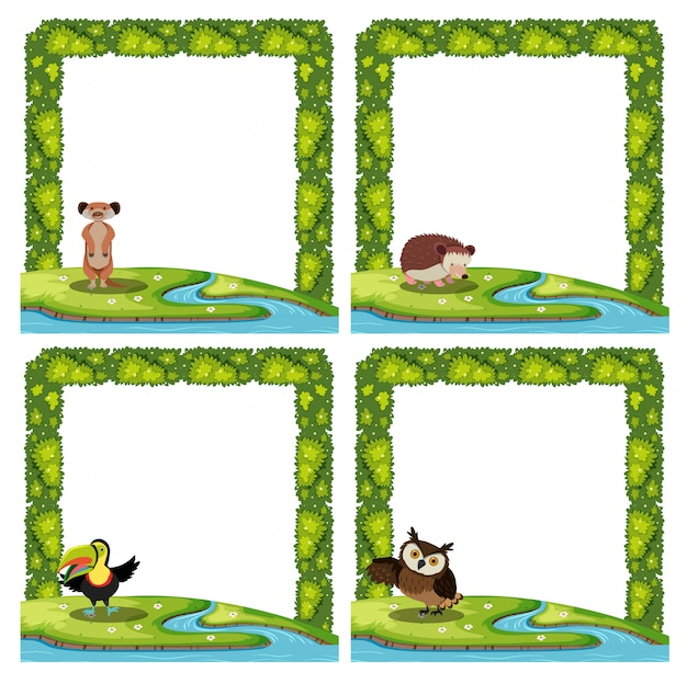 Set of animal nature template