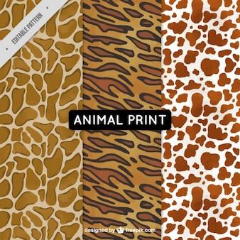 Set of animal patterns