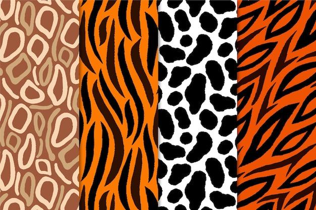 Set of animal print seamless pattern