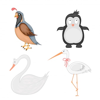 Set of animals in vector isolated on white background.