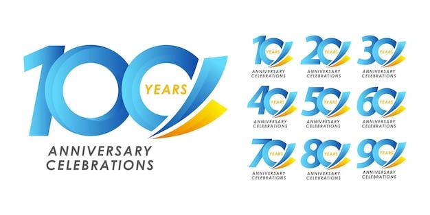 기념일 디자인 로고 개념을 설정합니다.