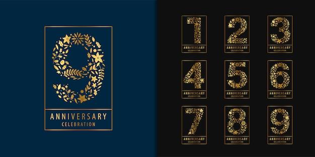 Set of anniversary logotype.