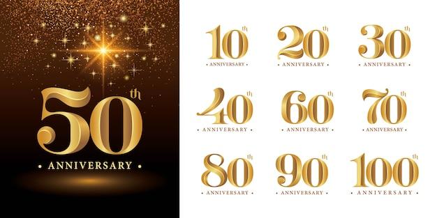 Set of anniversary numbers