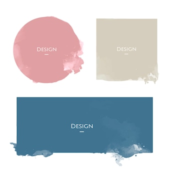 Set of announcement badge templates design illustration