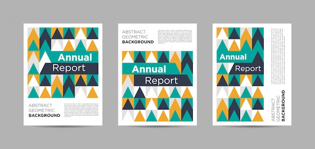 Set of annual report brochures