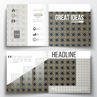 Set of annual report business templates for brochure