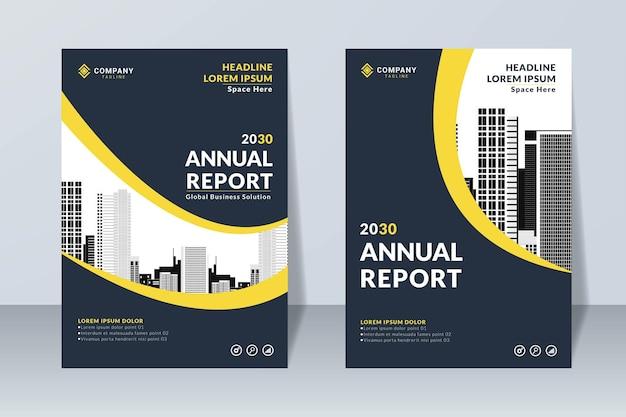Set of annual report design template