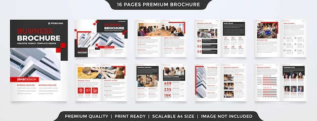 Set of annual report template premium style