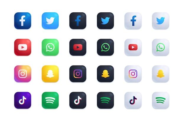 Set di icone delle applicazioni