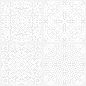 Set of arabic seamless pattern background