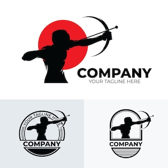 Set of archery logo design inspiration