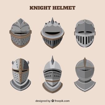 Set of armor in flat design