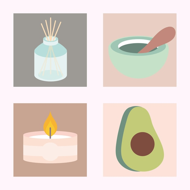 Set of aromatherapy spa