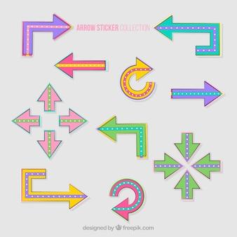 Set of arrow stickers