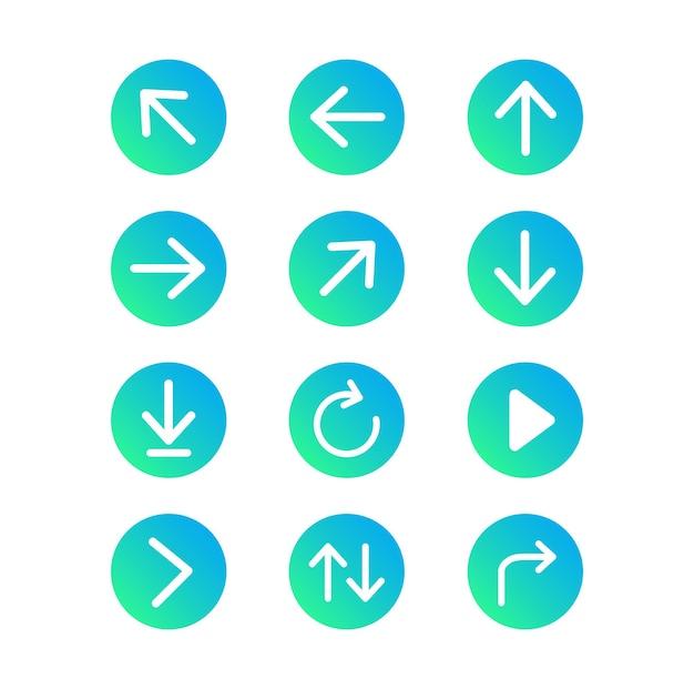 Set of arrows button
