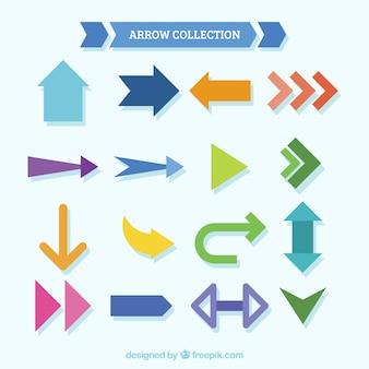 Set of arrows in flat design