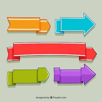 Set of arrows ribbons