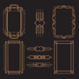 Set of art deco frame