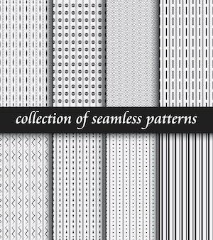 Set of art deco seamless patterns. stylish modern textures