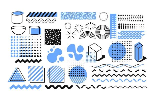 Установите геометрическое искусство для абстрактного фона с плоским, минималистским стилем.