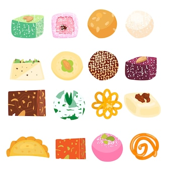 Set of asian sweets