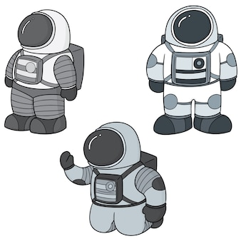 Set of astronaut