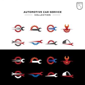 Set of automotive car service logo