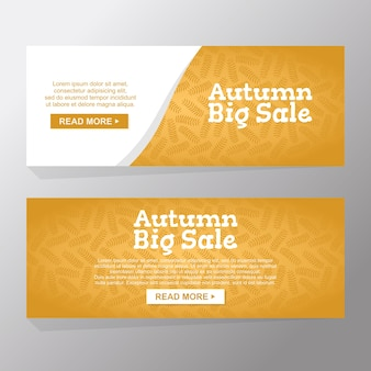 Set of autumn big sale banners