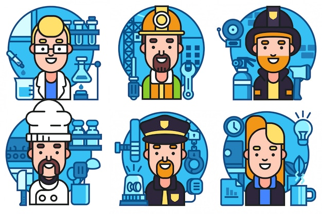 Set of avatar icons