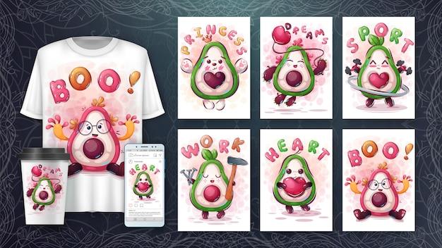 Набор авокадо - постер и мерчендайзинг