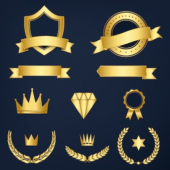 Set of awards and badges vector