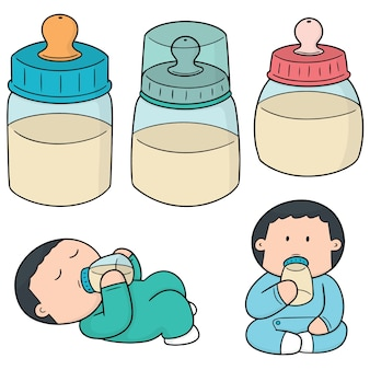 Set of baby bottle
