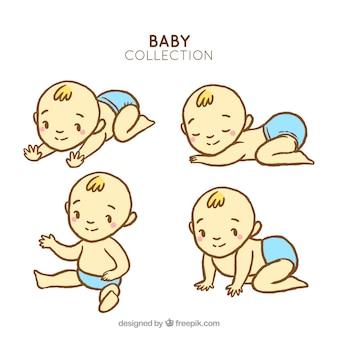 Set of baby boys