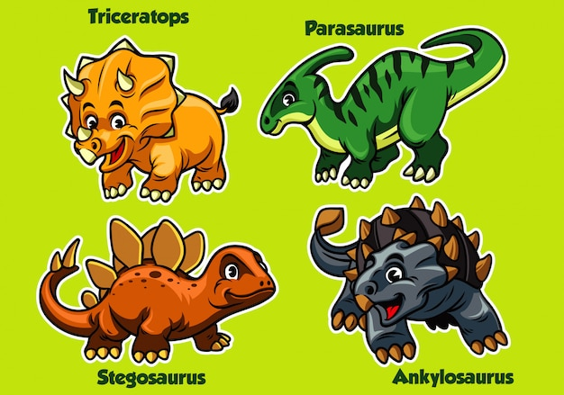 Set of baby dinosaurus