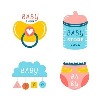 Set of baby logo