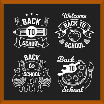 Set of back to school labels