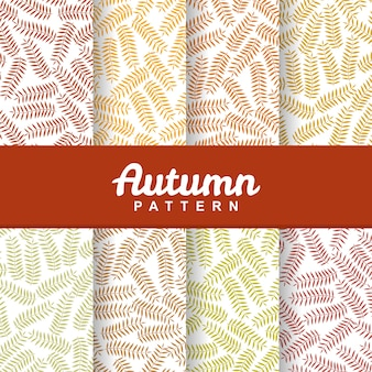 Set background of autumn grass seamless pattern