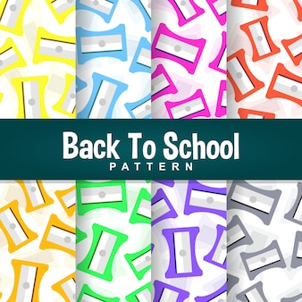 A set background of back to school sharpener pattern