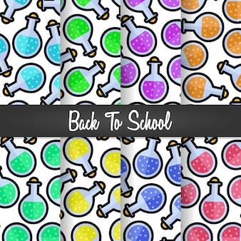 Set background of back to school spell science pattern
