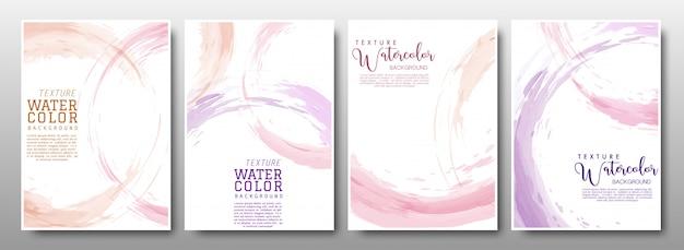 Set of background circle splash pastel