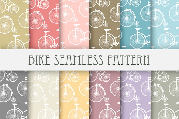Set of backgrounds bicycle