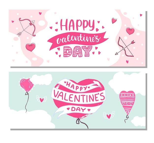 Set of backgrounds for valentine's day.